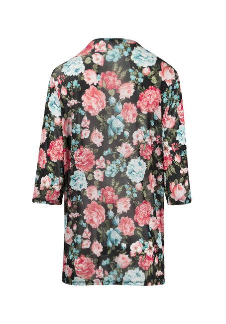 Ladies' Mesh Floral Kimono, MULTI, hi-res