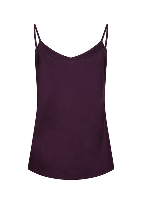 Women's Reversible Relaxed Strappy Tank, PLUM, hi-res