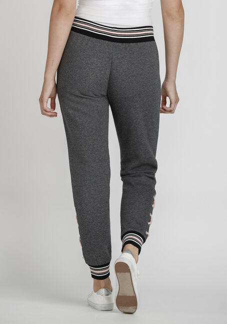 Women's Lace Up Jogger, CHARCOAL, hi-res