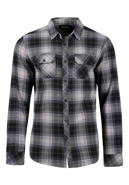 Men's Flannel Plaid Shirt, BLUE, hi-res