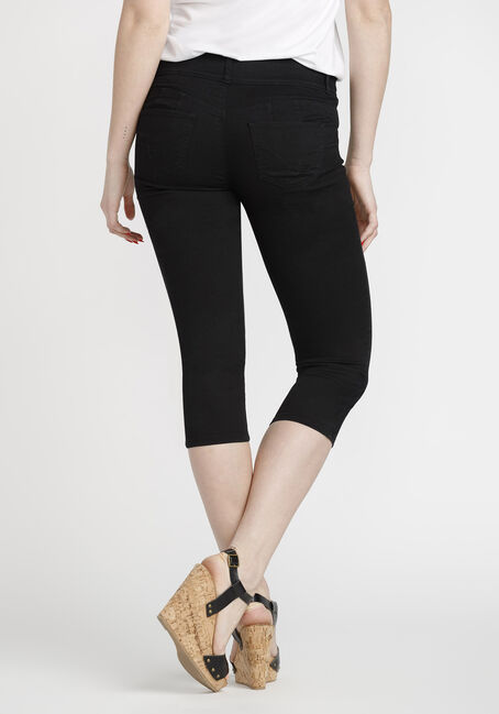 Women's Skinny Capri, BLACK, hi-res