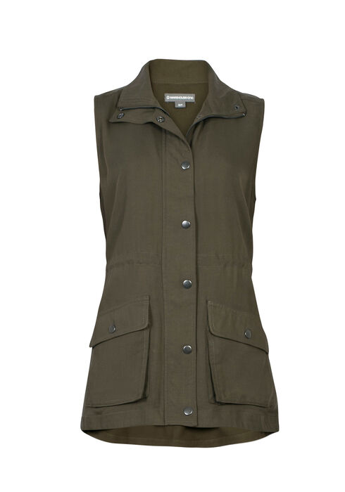 Ladies' Utility Vest, OLIVE, hi-res
