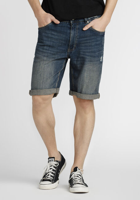 Men's Destroyed Denim Short