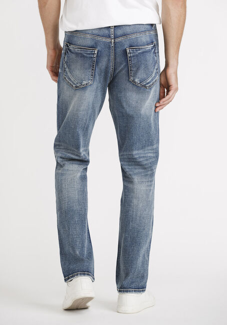 Men's Light Wash Slim Straight Jeans, LIGHT WASH, hi-res