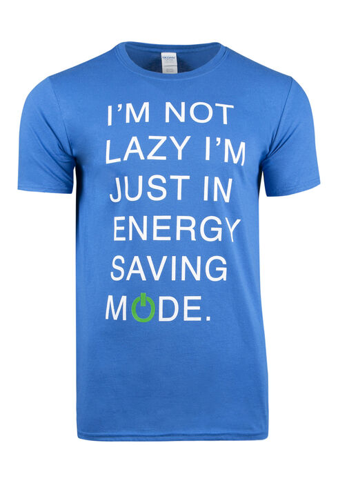 Men's Energy Saving Mode Tee, ROYAL BLUE, hi-res
