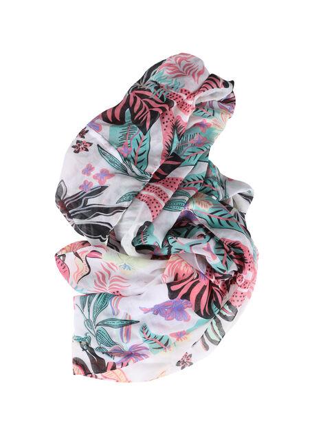 Women's Leaf Print Infinity Scarf
