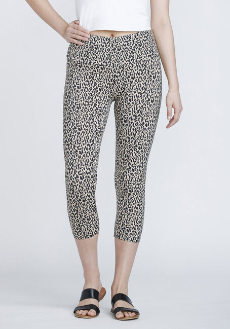 Women's Super Soft Leopard Capri Legging