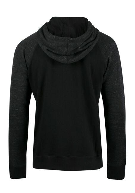Men's Raglan Hoodie, BLACK, hi-res