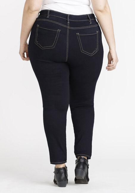 Women's Plus Size Clean Wash Skinny Jeans, DARK WASH, hi-res