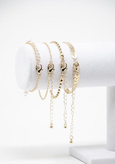 Multi Pack Bracelets, GOLD, hi-res