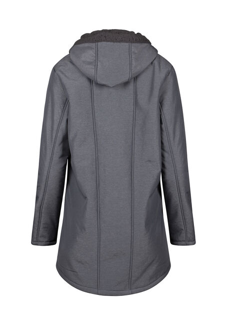 Women's Softshell Jacket, CHARCOAL, hi-res