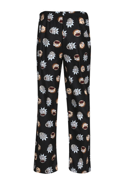 Men's Rick & Morty Lounge Pant, BLACK, hi-res