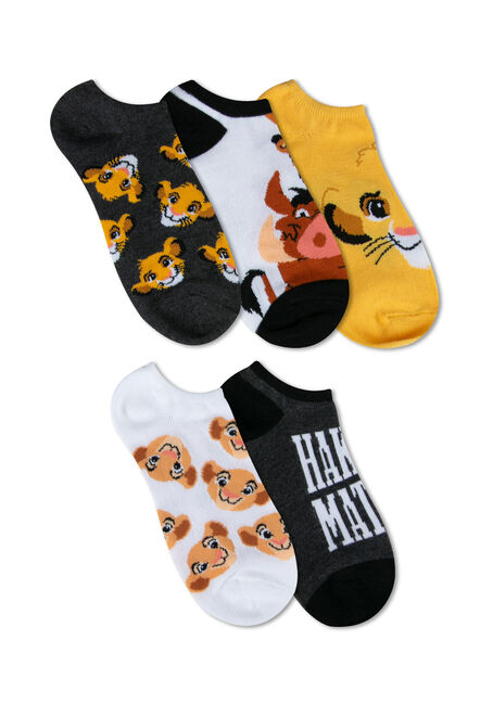 Ladies' 5 Pair Lion King Socks