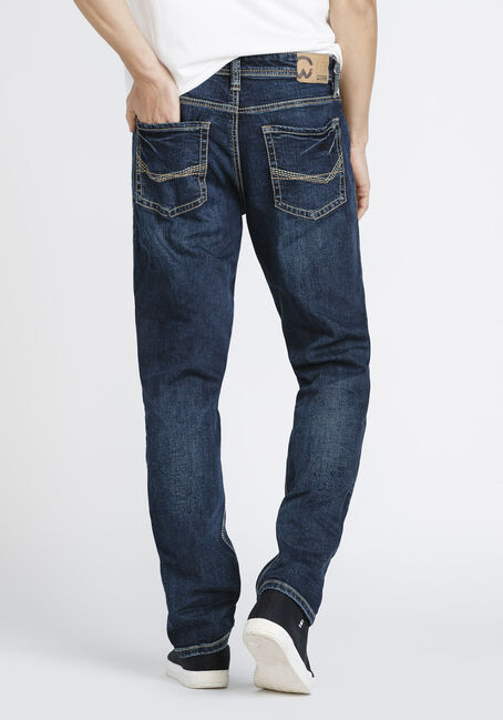 Men's Athletic Jeans, DARK WASH, hi-res
