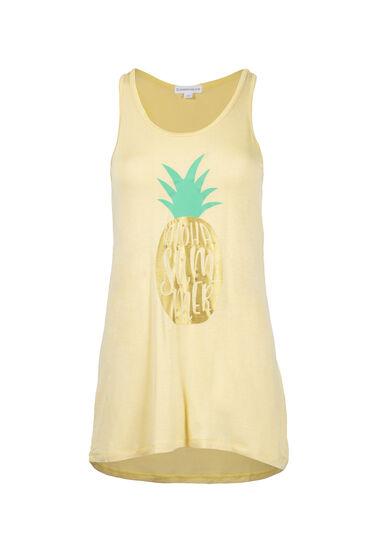 Women's Aloha Summer Speckle Tank, LEMON, hi-res