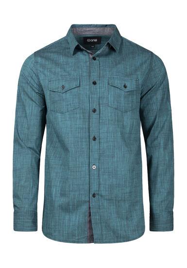 Men's Textured Shirt, BLUEGRASS, hi-res