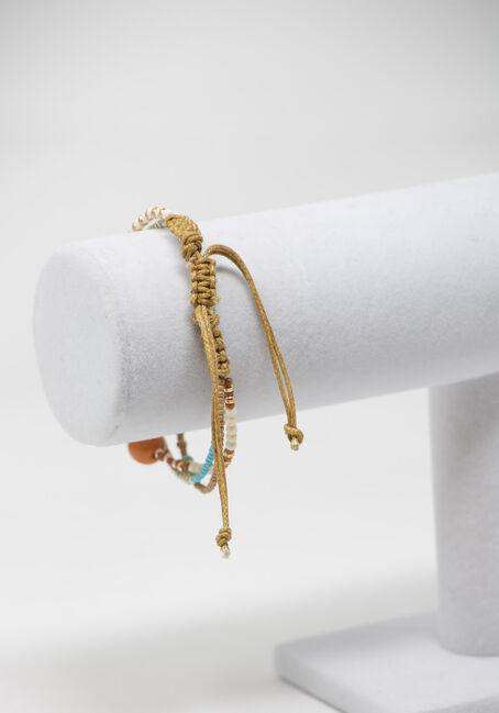 Bead Pull Through Bracelets, MULTI, hi-res