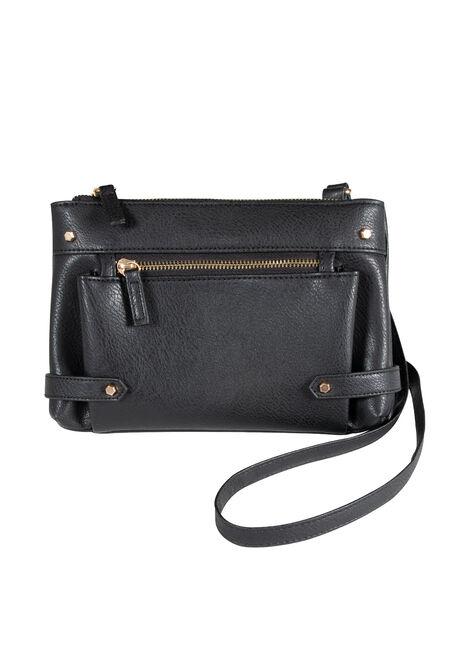 Women's Zipper Front Cross Body Bag