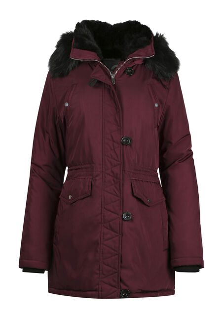 Ladies' Fur Trim Parka