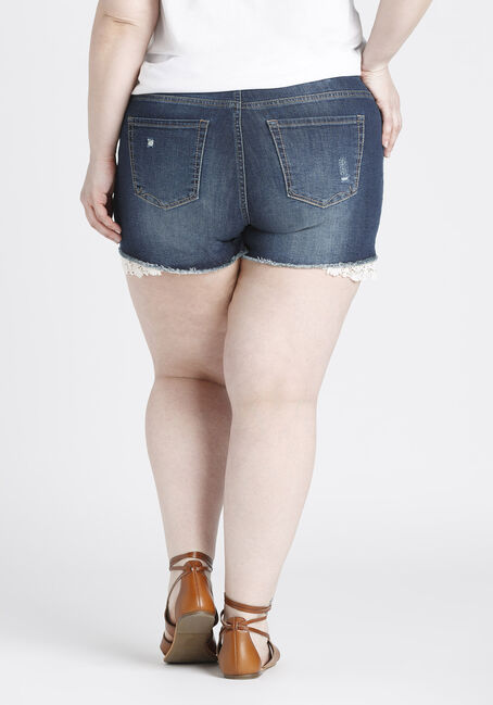 Ladies' Plus Size Not-So-Short Short, DARK VINTAGE WASH, hi-res