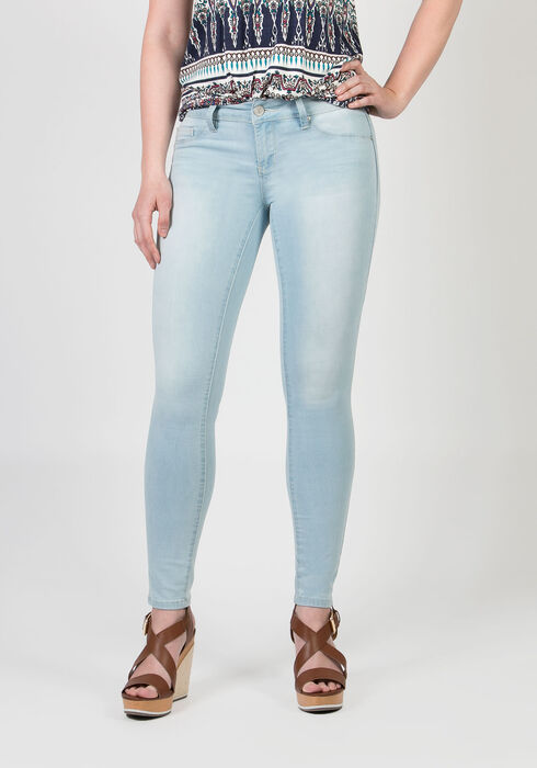 Ladies' Low Rise Skinny Jeans, LIGHT WASH, hi-res