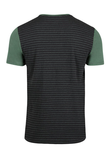 Men's Everyday Contrast Pocket Tee, FIR, hi-res