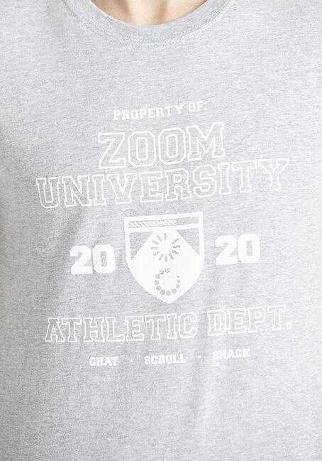 Men's Zoom University Tee, SPORT GREY, hi-res