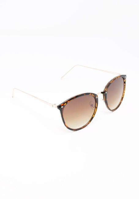Women's Tortoise Sunglasses, MEDIUM BROWN, hi-res