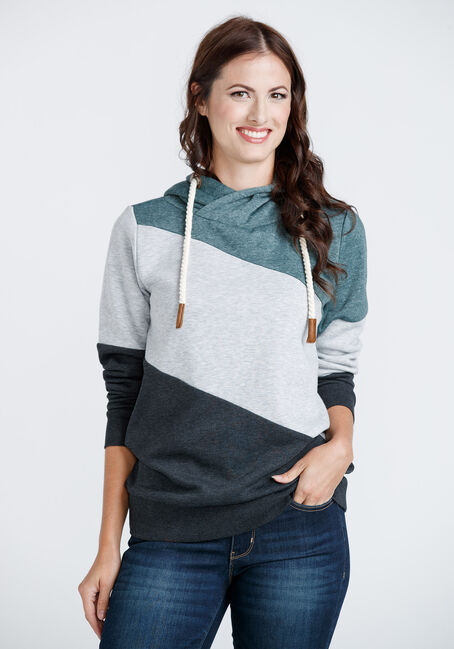 Women's Colour Block Popover hoodie