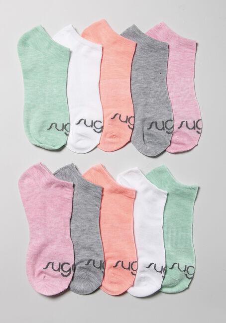 Womens 10 Pack Sugar Ankle Socks