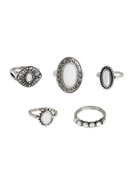 Ladies' 5 Pair Ring Set