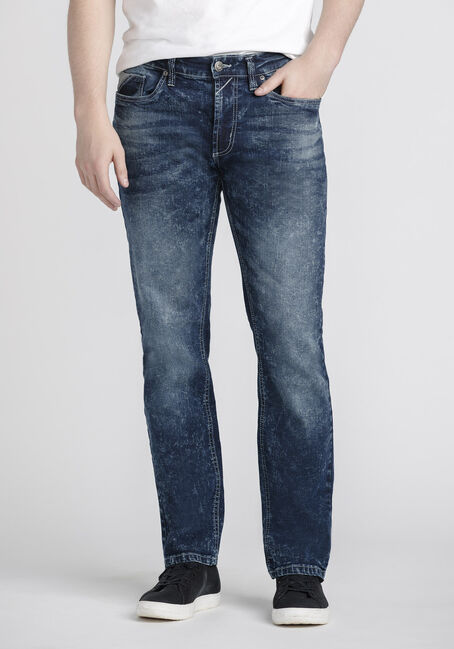 Men's Classic Straight Marble Wash Jeans