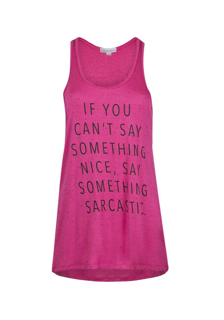 Ladies' Say Something Sarcastic Tank