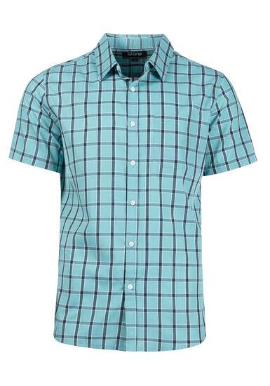 Men's Checkered Plaid Shirt, AQUA GREEN, hi-res