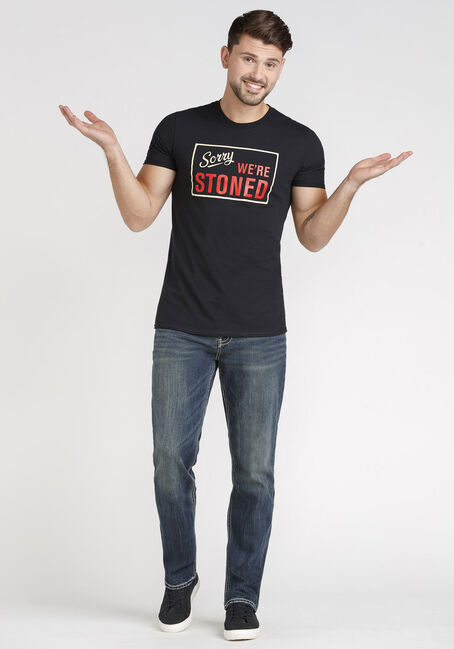 Men's Sorry We're Stoned Tee, BLACK, hi-res