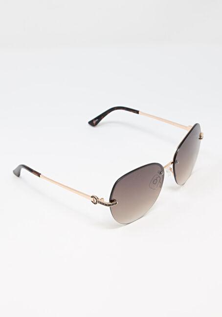 Women's Aviator Sunglasses, BROWN, hi-res
