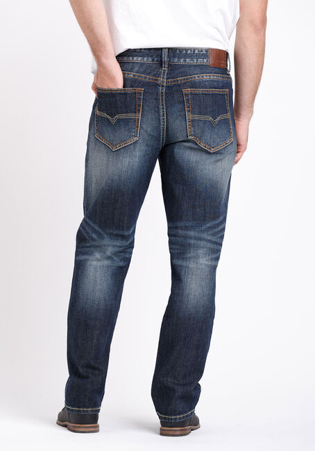 Men's Vintage Relaxed Straight Jeans, DARK WASH, hi-res
