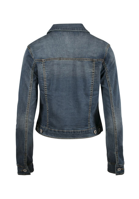 Ladies' Jean Jacket, DARK WASH, hi-res