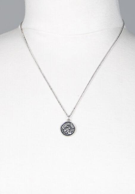 Aquarius Pendant Necklace, SILVER, hi-res