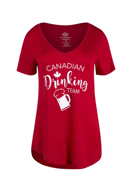 Ladies' Canadian Drinking Team Tee