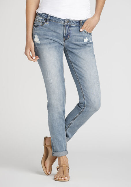 Women's Destroyed Girlfriend Jean