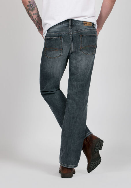 Men's Straight Leg Medium Vintage Jeans, MEDIUM WASH, hi-res