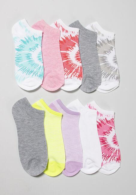 Women's 10 Pair Tie Dye Socks