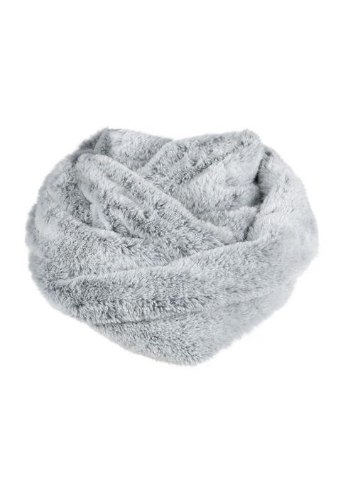 Ladies' Faux Fur Infinity Scarf, GREY, hi-res