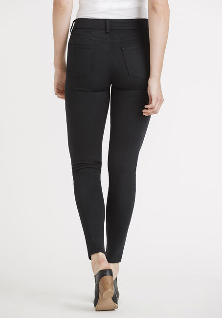 Women's 5 Pocket Black Skinny, BLACK, hi-res
