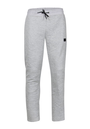 Men's Embossed Fleece Pant, HEATHER GREY, hi-res