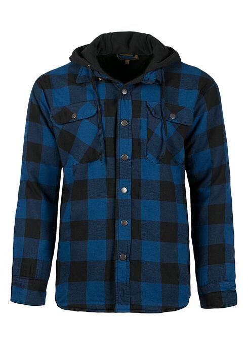 Men's Plaid Jacket, ROYAL BLUE, hi-res