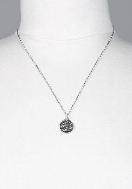 Libra Pendant Necklace, SILVER, hi-res