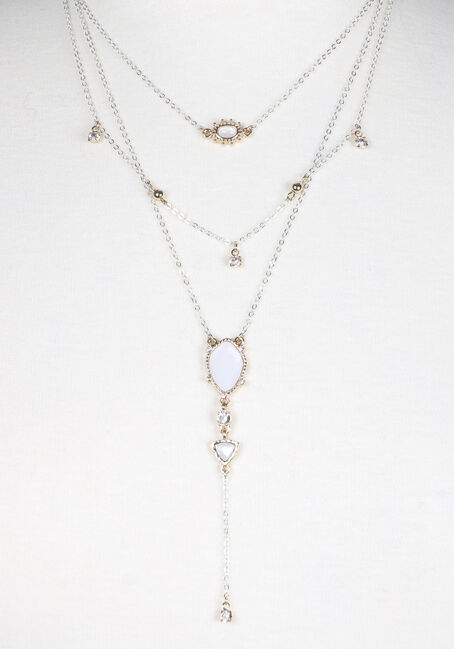 Ladies' Layered Necklace, MIXED, hi-res