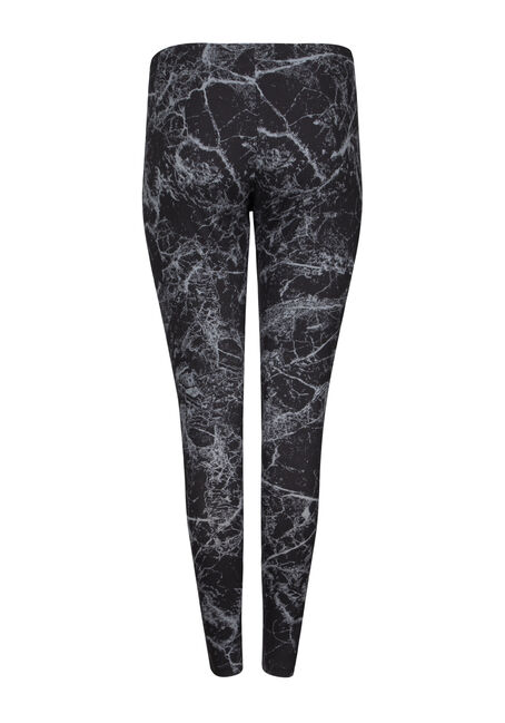 Women's Marble Print Legging, BLACK, hi-res